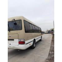 Cheap japan brand toyota coaster 30 seats diesel fuel second hand medium-sized bus 4x2 coaster on sale for sale