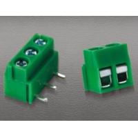 Buy cheap PCB terminal block with horizontal solder pin from wholesalers