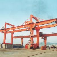 Cheap Adjustable Double Girder Gantry Crane / Ship Container Crane Box Type for sale
