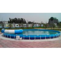 Cheap Family Entertainment Metal Framed Swimming Pools Round Custom Made for sale