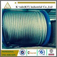 Cheap 8x19+IWRC Steel Wire Rope for elevator Used In Construction Of Transmission Line in china for sale