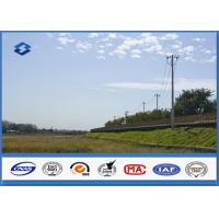 Low Voltage Single Circult Electric Steel Power Pole with Hot Dip Galvanization