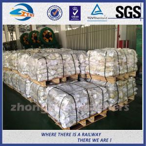 Quality Material 45# Railway Custom Railroad Track Spikes , Threaded Screw Spike wholesale