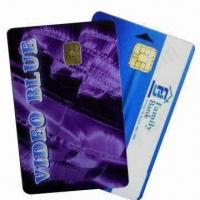 Cheap PVC Contact Smart Chip Cards (Chip 4442), Measures 86x54x0.84mm for sale