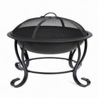 Cheap Fire Pits with Gray Painting, Two Wheels for Easy Movement for sale
