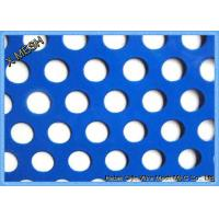 Cheap Round Hole Perforated Metal Mesh , PVC Coated Perforated Aluminum Sheet Metal for sale
