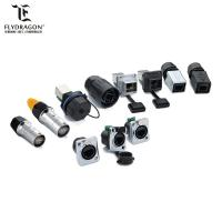 Buy cheap IP65 waterproof amp CAT6 RJ45 Panel Mount Socket Ethernet Connector from wholesalers