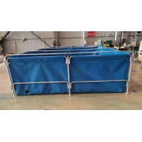 Cheap Collapsible 0.9mm PVC Tarpaulin Fish Pond 30000L for sale