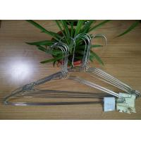 China Galvanized Steel Wire Hangers ,   16 / 18 Inch Wire Coat Hangers For Laundry on sale