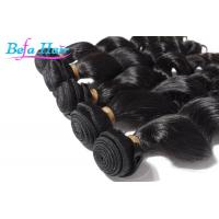 Cheap 100% Virgin Natural Black Loose Wave Hair Weave With Full Cuticles Intact for sale