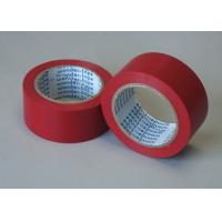 Cheap Red Adhesive Floor Marking Tape PVC Film Thickness 0.5MM For Pipe Wrapping for sale