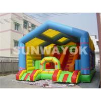 Cheap Giant Colourful  Inflatable Obstacle Course For Adults , safety Slide Bouncy House for sale