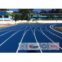 Cheap Full Pour Colored Epdm Rubber Granules Flooring , All Weather Running Track for sale