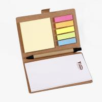 China Brown Personalised Stationery Notebooks / Personalized Notebook With Sticky Notes on sale