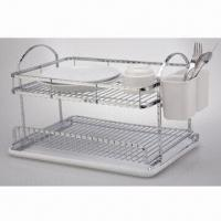 China Chrome-plated dish rack with two tiers on sale