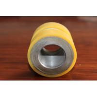 Cheap Yellow High Density Polyurethane Wheel Heavy Duty Coating Rollers Wheels Replacement for sale