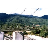 Cheap Large Span Steel Suspension Cable Stay Bridges With Rock Anchors for sale
