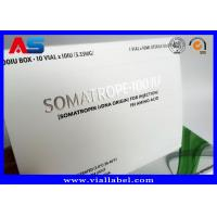 China Somatropin Bodybuilding Hgh Tablets Custom Pill Box / Medicine Carton Box on sale