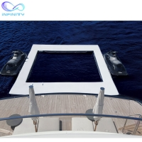 Cheap Ocean Sea Inflatable Yacht Swimming Pool With Netting Enclosure for sale