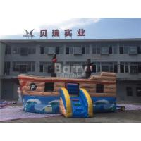Cheap Commercial Kids Blow Up Inflatable Pirate Ship Combo With Lead Free Material for sale