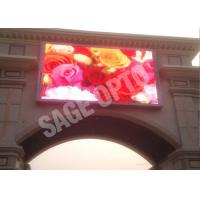 Cheap 6mm Full Color Outdoor Advertising LED Display , 1R1G1B LED Full Color Display for sale