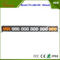 Cheap 14400lm 32.6 inch amber and white color cover 180w single stack off-road led light bar for sale