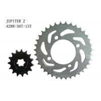 Cheap JUPITER Z Motorcycle Sprocket Chain 36T-15T Heat Treatment Surface ISO Approval for sale
