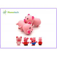 Cheap Happy Big Family Pink Pig Customized Usb Flash Drive , Personalized Usb Key Cute Model for sale
