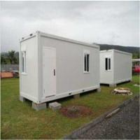 Cheap Standard Flat Pack House , Movable Sandwich Panel Prefab Container House for sale