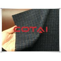 Cheap Small Blue and Yellow 1cm Plaid / Tartan Wool Fabric Autumn / Winer Suit Blazer Fabric for sale