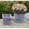Buy cheap Blue limestone flower pot / bluestone vase / stone pot exporter from wholesalers