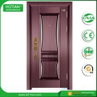 Cheap luxury design main gate steel door in metal skin with competition price wholesale