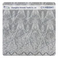 Buy cheap Antique Decorative Eyelash Embroidered Wide Stretch decorative Lace Trim Fabric from wholesalers
