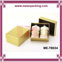 Cheap Yellow printing Set up Cardboard 2 piece candles Packaging Paper Box with black Insert for sale