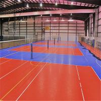 Hot selling indoor volleyball court floor with certificate for Indoor basketball court installation