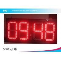 Cheap Electronic Outdoor Large Led Digital Wall Clock Timer , Waterproof IP67 for sale
