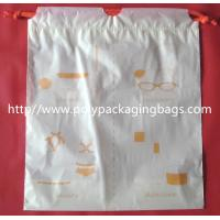 Cheap Small Packaging Poly Bags , Drawstring Pouch Bags 2 Colors Gravure Printing for sale