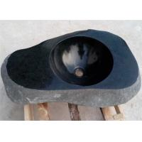 China Irregular Basin Black Granite Stone Sink Bowl For Washing Hands on sale