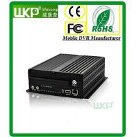 Cheap HDD anti-vibration GPS 3G 4G WIFI 4 Channel 3G Mobile DVR Recorder With H.264  Compress for sale