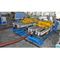 China Automatic HDPE Spiral Tube Plastic Pipe Extrusion Line With Single Screw Design on sale