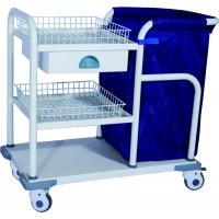 China Medical Trolleys , Epoxy Coated Steel Laundry Trolley For Nurse on sale