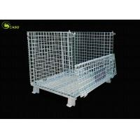 Cheap Forklift Wire Mesh Warehouse Collapsible Corner Shelves Storage Turnover Box for sale