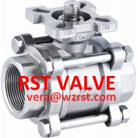 Cheap NPT/BSPT/BSPP SS 3PC BALL VALVE WITH MOUNTED PAD,1000WOG for sale