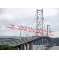 Cheap Concrete Deck Steel Truss Suspension Bridge Cable-Stayed Bridge With Rock Anchor For Pedestrians And Vehicle Dual Use for sale