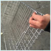 China stainless steel metal disinfecting wire mesh basket,crimped weave sterilize filter baskets for medical on sale