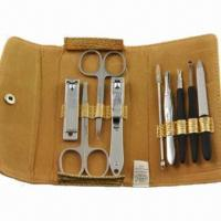 Cheap Manicure and Pedicure Set, Made of PU Leather and Stainless Steel, OEM Orders Welcomed for sale