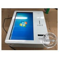 Cheap 21.5 Inch Wall Mount Smart IR Touchscreen Self Service Machine With Cash Receiver for sale