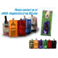 Cheap PVC Ice bag, Wine Beer Gift Bags, Wine Bag, drink ice bags, portable wine bags for sale