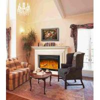 European Style Antique LED Electric Fireplace With Wooden