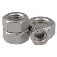 Cheap Stainless Steel 304 / 316 Hexagon Head Nut Plain Finish Grade 10 Metric DIN 934 JIS for sale